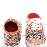 Wild Diva Lounge Marsden 01 Coral Print Canvas Lace-Up Sneakers