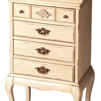 Grace Traditional Jewelry Chest Beige