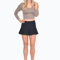 Mocha Crisscross Back Crop Top