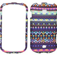 Stylish Tribal Design Rubberized Snap on Protective Cover Case for Samsung Galaxy Stellar i200 I200