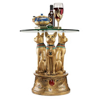Royal Golden Bastet Side Table