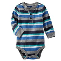 OshKosh B'gosh Striped Bodysuit - Baby Boy, Size: