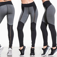 Patchwork Women's Fashion Hot Sale Hollow Out Sports Yoga Gym Leggings [10468584966]