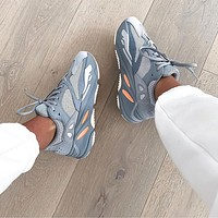 Adidas Yeezy Boost 700 Inertia Retro Men's and Women's Casual Sports Daddy Shoes