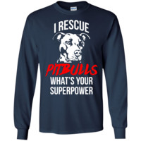 "LS ""I Rescue PitBulls"" T Shirt"