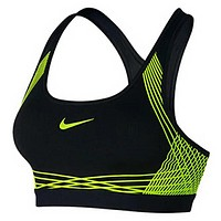 NIKE 2018 spring and summer new women's earthquake-proof gathering sports bra F-3A30-KDC Fluorescent green