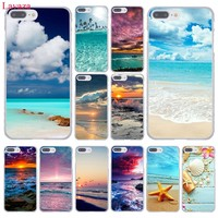 Lavaza Clear Sea Sky Sandy beach Hard Coque Shell Phone Case for Apple iPhone 8 7 6 6S Plus X 10 5 5S SE 5C 4 4S Cover