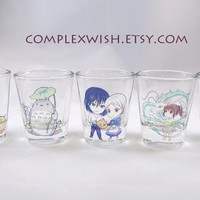 studio ghibli shot glass - 1.5oz