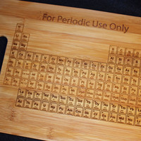 Periodic Table Cutting Board 11x15 Chemistry Science Gift for Student Teacher Graduation Kitchen Art Chemist College University Geekery