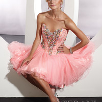 Strapless Short Ball Gown Terani Couture P192