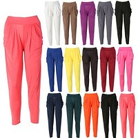 Womens Fashion Casual Harem Baggy Dance  Sweat Pants Trousers Slacks
