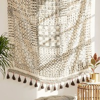 Besso Textured Fringe Tapestry | Urban Outfitters