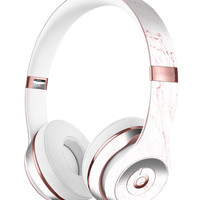 Pink v2 Textured Marble Full-Body Skin Kit for the Beats by Dre Solo 3 Wireless Headphones