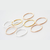 Jewelry Gift New Arrival Shiny Silver 925 Hoop Simple Design Stylish Ring [10467583316]