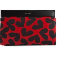 Saint Laurent heart print clutch