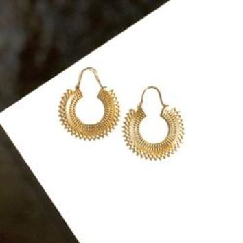 Oni Brass Earrings