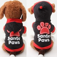 Cute Pet Dog Cat Coat Paws Printed Letter Apparel Puppy Hoodie Sport Sweatshirt Clothes