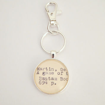 Game of Thrones keychain, Game of Thrones fan, bottle opener, fantasy book key ring, gifts under 10, unique small gift, GoT book
