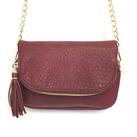 Dandy Crossbody Handbag In Wine