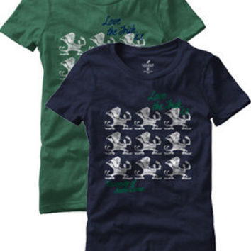 LEAGUE COLLEGIATE WEAR : Notre Dame Fighting Irish Women's T-Shirt : Hammes Notre Dame Bookstore : www.nd.bkstr.com