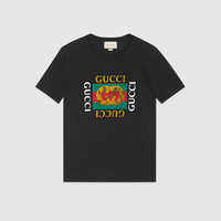 Gucci Washed t-shirt with Gucci print