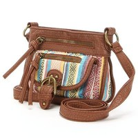 Mudd Waverly Striped Mini Crossbody Bag