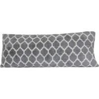 your zone gray lattice body pillow - Walmart.com