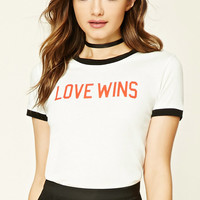 Love Wins Graphic Ringer Tee