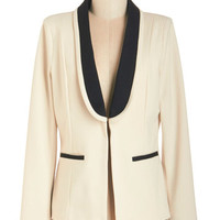 ModCloth Menswear Inspired Long Sleeve Take Charge Charm Jacket