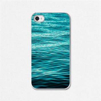 $32.00 iPhone 4 case iPhone 4 cover Water Blue by LisaRussoFineArt