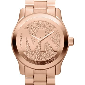 Michael Kors Watch, Women's Runway Rose Gold-Tone Stainless Steel Bracelet 45mm MK5661 - All Watches - Jewelry & Watches - Macy's
