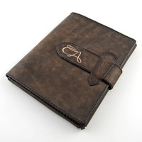 Personalized - iPad 3 Leather sleeve. AGED EFFECT, handcrafted in Italy.
