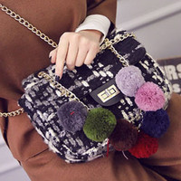 Stylish Chain and Colour Block Design Crossbody Bag For Women