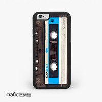 IPHONE 6 CASE, Blue Vintage Cassette Tape Rubber iPhone Case - (Pre-Order)