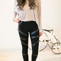 Ride or Die Leather Detail Leggings