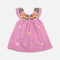 AKSHU & ING PINK DAISY DRESS