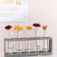 Glass Vase Holder Set