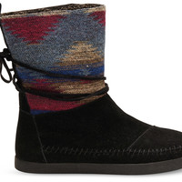 TOMS Black Wool Nepal Boots Grey