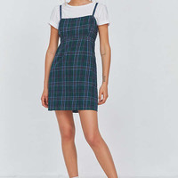 UO Straight-Neck Plaid Mini Dress | Urban Outfitters