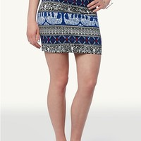 Elephant Paisley Mini Skirt