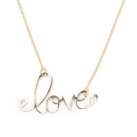 With Love From CA Love Script Necklace at PacSun.com