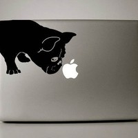 """French Bulldog Sniff Decal for 13"""" Macbook"""