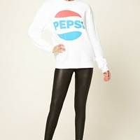Pepsi Logo Graphic Sweatshirt