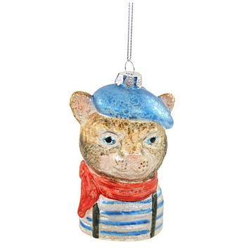 French Cat Ornament
