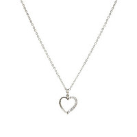 Dillard's Boxed Collection CZ Heart Necklace
