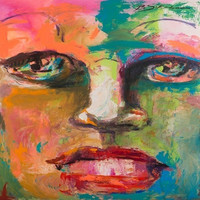 Color Face Abstract Wall Art