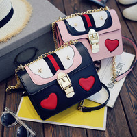 Lady Casual Crossbody Messenger Bags Women Leather Chic Handbag Shoulder Bag+Free Gift -Random Necklace-73