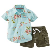 Carter's Tropical Button-Down Shirt & Shorts Set - Baby