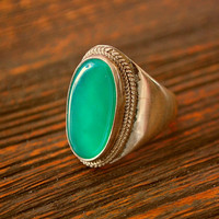Vintage Aventurin Ring from India
