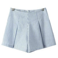 Striped Ruffled Shorts